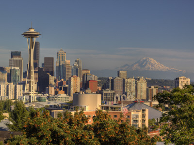 Skyline From Kerry Park, Seattle, Washington, USA Photographic Print by Jamie & Judy Wild