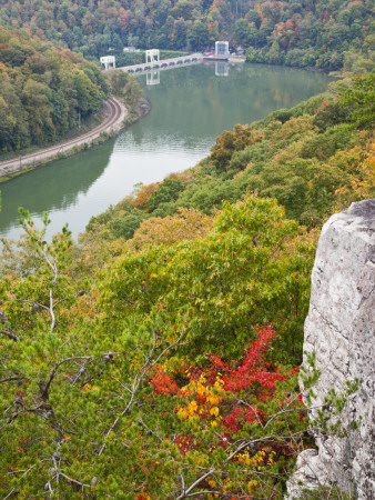 Kanawha River Overlook, Hawks Nest State Park, Anstead, West Virginia, USA Photographic Print by Walter Bibikow