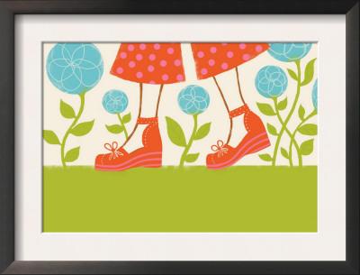 Girl's Feet in Platform Sandals Posters