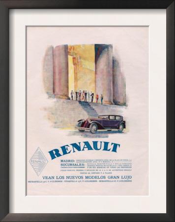 Renault, Magazine Advertisement, USA, 1930 Poster