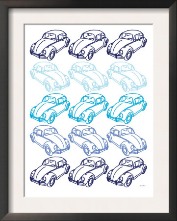 Blue Bug Print by  Avalisa