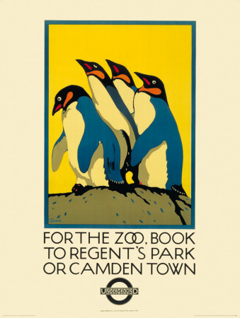 For the Zoo, Book to Regent's Park Affischer