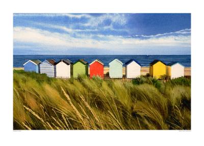 Beach Huts, Southwold Prints by Margaret Heath