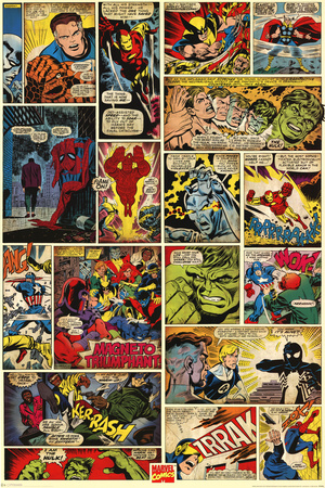 Marvel Comics (Comic Panels) Juliste