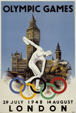 London 1948 Olympics Poster