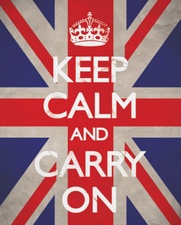 Keep Calm And Carry On (Union Jack) Miniposter