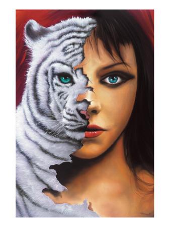 The Tigress Premium Giclee Print by Jim Warren