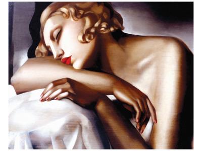 La Dormeuse Premium Giclee Print by Tamara de Lempicka