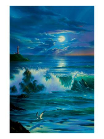 Moonlit Romance Premium Giclee Print by Jim Warren