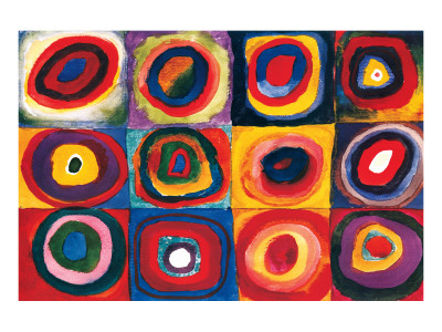Color Study of Squares Premium Giclee Print by Wassily Kandinsky