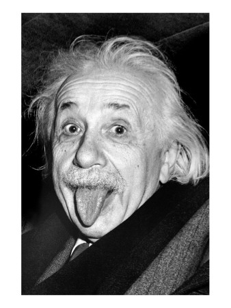 Einstein, langue Reproduction procédé giclée Premium