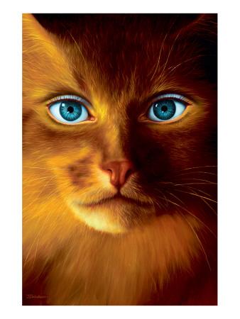 Cat Woman Premium Giclee Print by Jim Warren