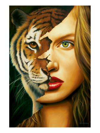 Tiger Within Premium Giclee Print by Jim Warren