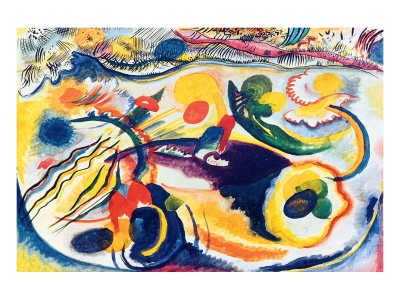 On the Theme of the Last Judgement Premium Giclee Print by Wassily Kandinsky