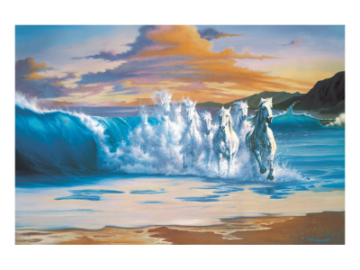 The Wave Premium Giclee Print by Jim Warren