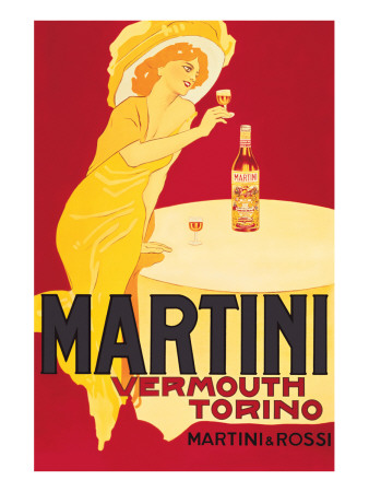 Martini and Rossi, Vermouth Torino Giclee-tryk i høj kvalitet