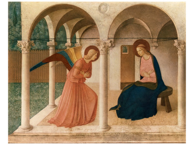 L'Annunciazione, 1387-1455 Premium Giclee Print by  Fra Angelico