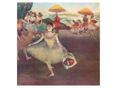Danseuse au Bouquet Saluant Premium Giclee Print by Edgar Degas