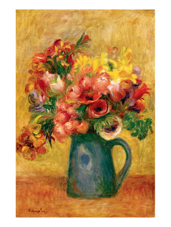 Pitcher of Flowers Premium Giclee Print by Pierre-Auguste Renoir