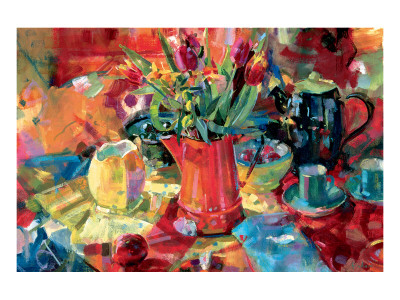Pitcher of Flowers Premium Giclee Print by Peter Graham