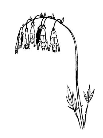 Manypeeplia Upsidownia Premium Giclee Print by Edward Lear