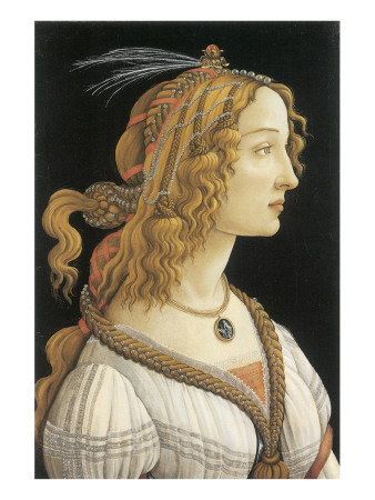 Simonetta Vespucci in Mythological Guise Premium Giclee Print