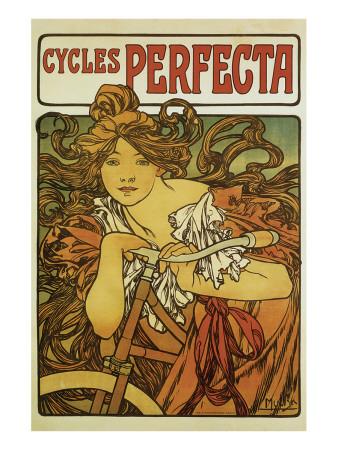 Cycles Perfecta Premium Giclee Print by Alphonse Mucha