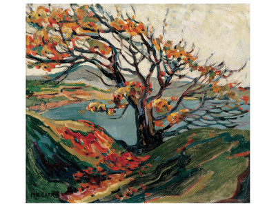Tree in Autumn Premium Giclee Print