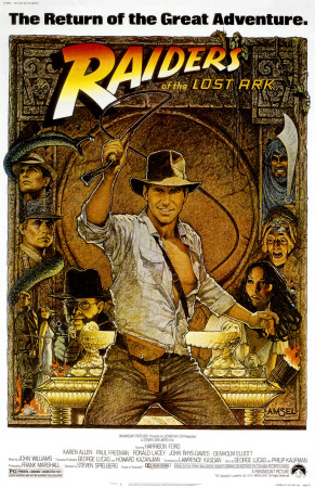 Harrison Ford Raiders of the Lost Ark movie poster cover art