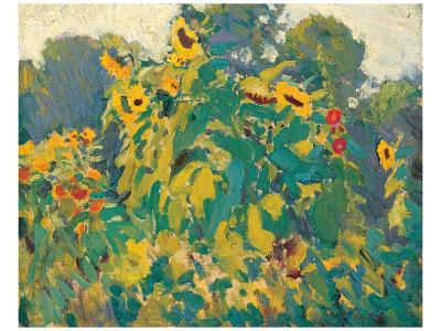 Sunflowers, Thornhill Exklusivt gicléetryck av J. E. H. MacDonald