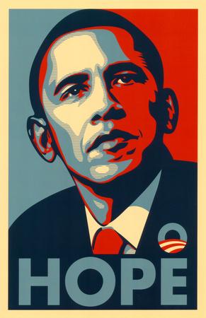 Barack Obama (Hope) Masterprint