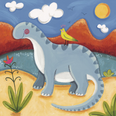 Baby Dippy The Diplodocus Art Print