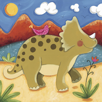 Baby Timmy The Triceratops Prints by Sophie Harding