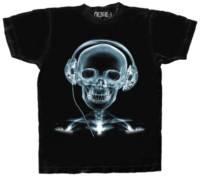 X-Ray Headphones T-Shirt