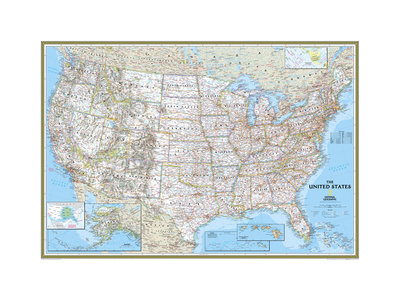 United States Political Map Posters by  National Geographic Maps