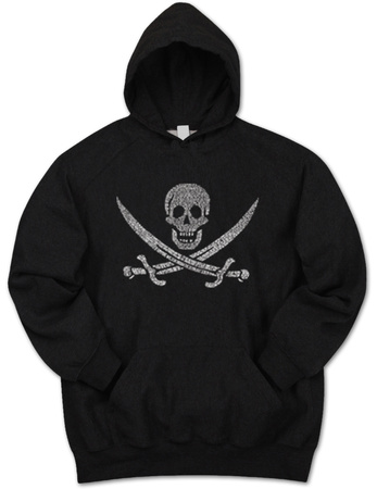 Hoodie: Pirate Flag Pullover Hoodie