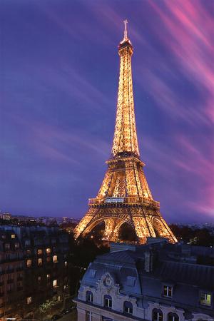 Eiffel Tower at Dusk Print