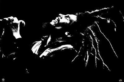 Bob Marley - B&W Affiche