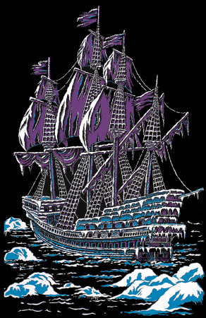 Ice Ship Blacklight Poster