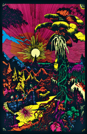 Lost horizon psychedelic trippy blacklight poster