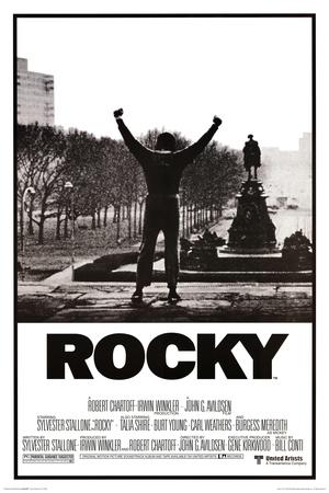 Rocky unosi ręce w górę plakat