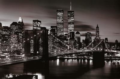 Brooklyn Bridge - B&W Poster