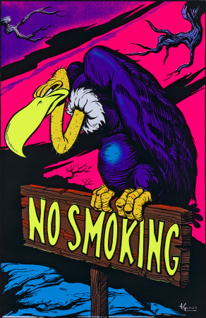 No Smoking Blacklight Poster