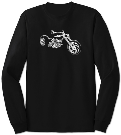 Long Sleeve: Motorcycle T-Shirt