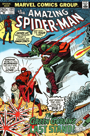 Marvel Retro - Spider-Man vs Green Goblin Poster