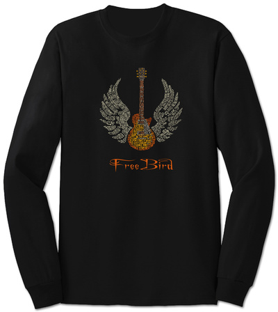 Long Sleeve: Freebird Lyrics Langærmet T-shirt
