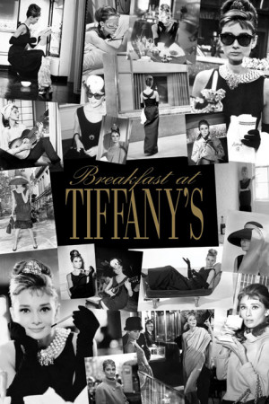 Audrey Hepburn - Breakfast at Tiffany's Collage Plakat