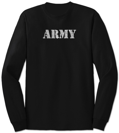 Long Sleeve: Lyrics To The Army Song Long Sleeves