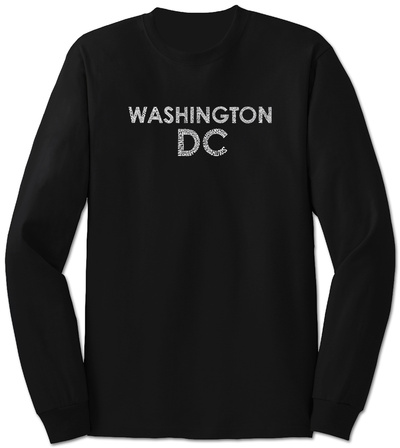 Long Sleeve: Washington DC Neighborhoods T-Shirt