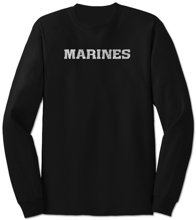 Long Sleeve: Lyrics To The Marines Hymn T-Shirt